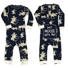 48a320d0889f Blue Classic Moose Kid Flapjacks Onesie